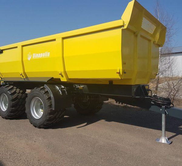 Dinapolis halfpipe dumper, trailer for sand, sunkiu kroviniu puspriekabe1