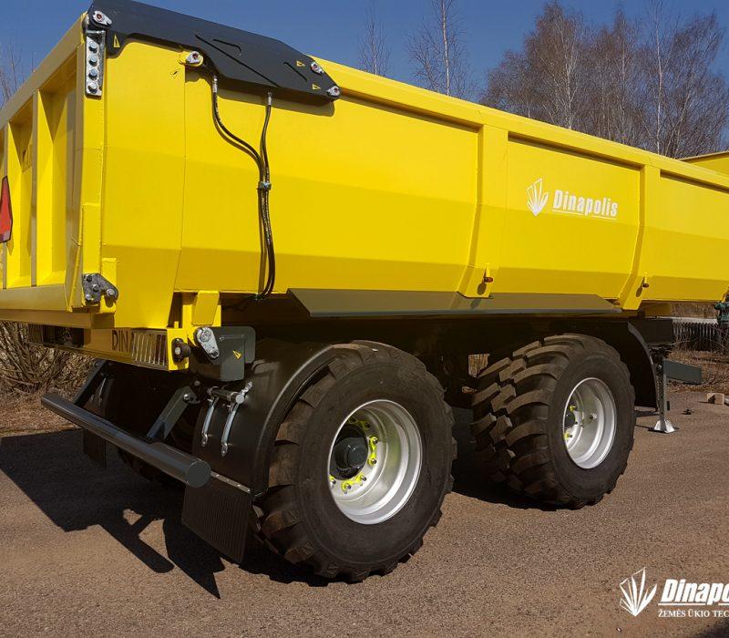 Dinapolis halfpipe dumper, trailer for sand, sunkiu kroviniu puspriekabe2