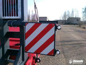 Technikos pervežimo puspriekabė DINA LL (tralas prie traktoriaus)