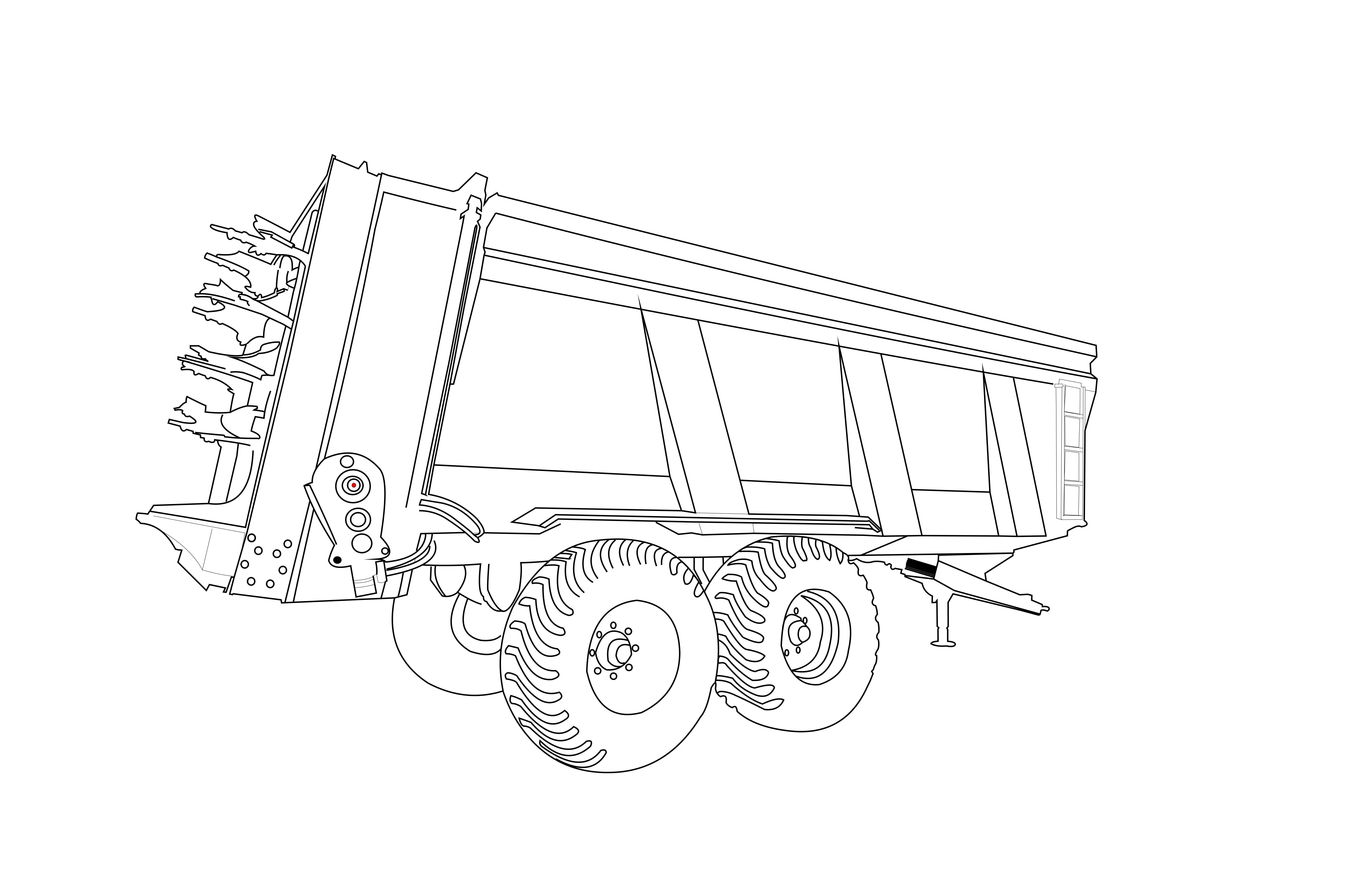 Dinapolis produktai - traktorinės priekabos, grūdų priekabos
