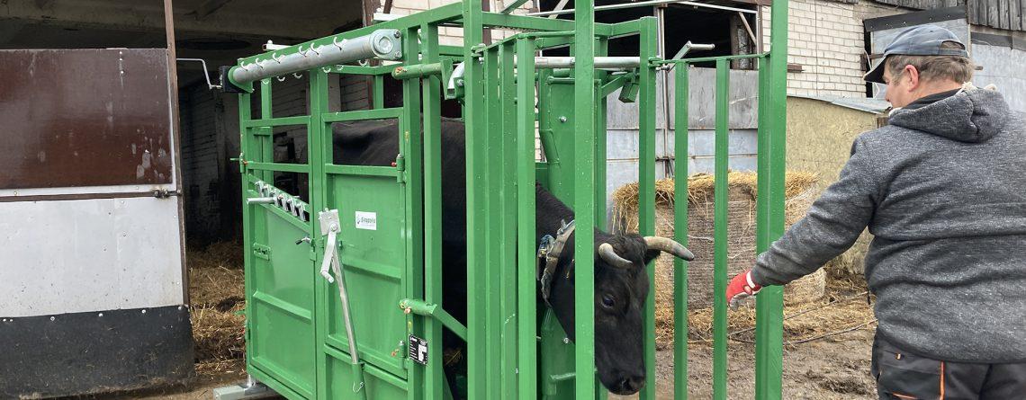 Gyvulių fiksavimo gardas - panaudojimo galimybės.